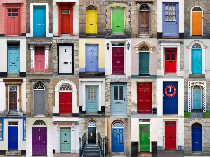 Lauko durų spalva